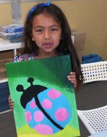 Sophia Age 9 Junior Acrylic Painting