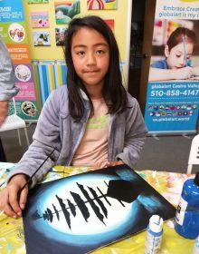 Ayla age 9 -Acrylic
